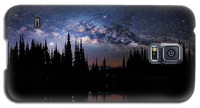 Canoeing - Milky Way - Night Scene Galaxy S5 Case
