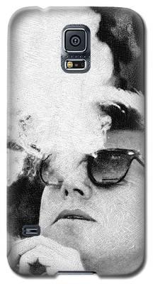 Cigar Smoker Cigar Lover Jfk Gifts Black And White Photo Galaxy S5 Case