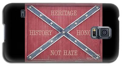 Confederate Flag On Wooden Door Galaxy S5 Case