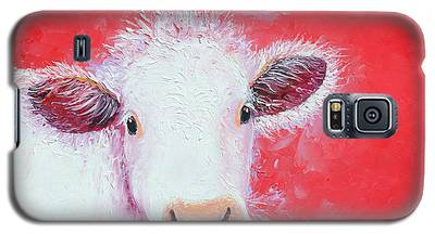 Cow Painting - Charolais Galaxy S5 Case