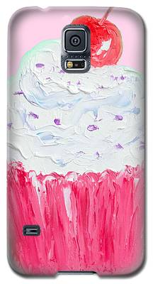 Cupcake Painting On Pink Background Galaxy S5 Case