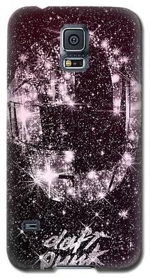Daft Punk Poster Helmets Print Space Stars Random Access Memories Disco Retro Digital Print Galaxy S5 Case