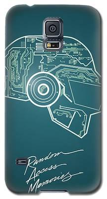 Daft Punk Thomas Poster Random Access Memories Digital Illustration Print Galaxy S5 Case