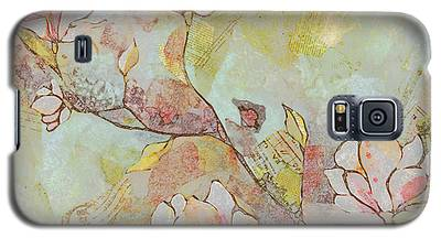 Saucer Magnolia Galaxy S5 Cases
