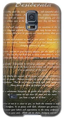 Desiderata - Go Placidly Galaxy S5 Case