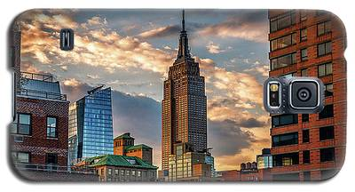 Empire State Building Sunset Rooftop Galaxy S5 Case