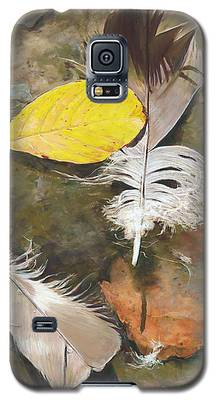 Feathers And Leaves Galaxy S5 Case