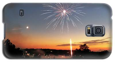 Fireworks And Sunset Galaxy S5 Case