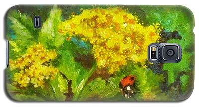 Golden Summer Blooms Galaxy S5 Case