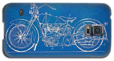 Harley-davidson Motorcycle 1928 Patent Artwork Galaxy S5 Case