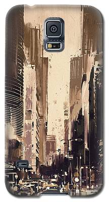 Hong-kong Cityscape Painting Galaxy S5 Case