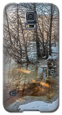 Hot And Cold In Yellowstone Galaxy S5 Case