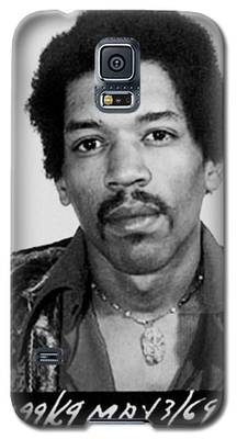 Jimi Hendrix Mug Shot Vertical Galaxy S5 Case