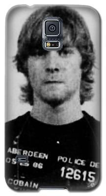Kurt Cobain Mug Shot Vertical Black And Gray Grey Galaxy S5 Case