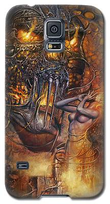 Lady And Skull Galaxy S5 Case
