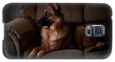 Looking Out The Window - German Shepherd Dog Galaxy S5 Case