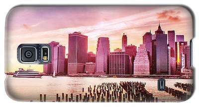 Lower Manhattan And Ferry Galaxy S5 Case
