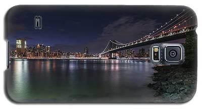 Manhattan Bridge Twinkles At Night Galaxy S5 Case