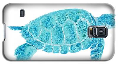 Marine Turtle Painting On White Galaxy S5 Case