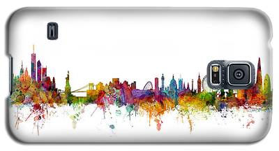 New York And London Skyline Mashup Galaxy S5 Case
