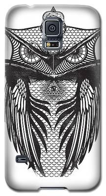 Owl Illustration Galaxy S5 Case