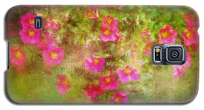 Painted Flowers Galaxy S5 Case