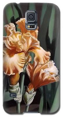 Peach Iris Galaxy S5 Case