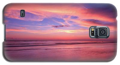 Pink Sky And Ocean Galaxy S5 Case