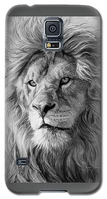 Portrait Of A Lion - Black And White Galaxy S5 Case