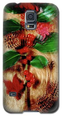Red Holly Spinning Galaxy S5 Case
