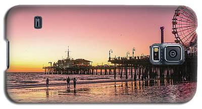 Red Sunset In Santa Monica Galaxy S5 Case