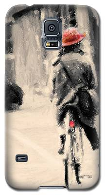 Riding My Bicycle In A Red Hat Galaxy S5 Case