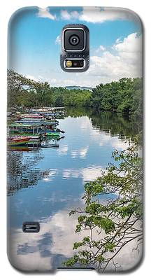 River Boats Docked In Negril, Jamaica Galaxy S5 Case