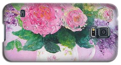 Roses In A Pink Floral Jug Galaxy S5 Case