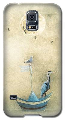 Sailing By The Moon Galaxy S5 Case