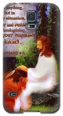 Scripture Art   Native Prayer Galaxy S5 Case