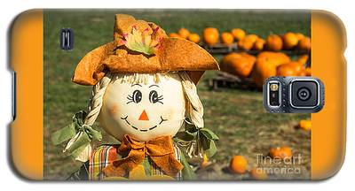 Smiling Scarecrow With Pumpkins Galaxy S5 Case