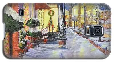 Soft Snowfall In Dahlonega Georgia An Old Fashioned Christmas Galaxy S5 Case