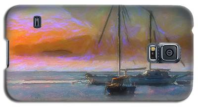 Sunrise With Boats Galaxy S5 Case