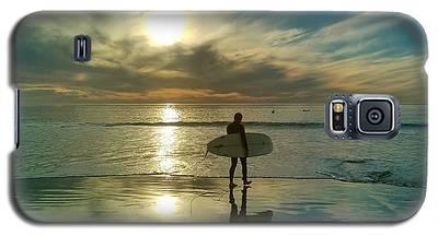Sunset Surfer Galaxy S5 Case