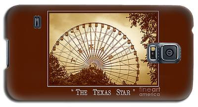 Texas Star In Gold Galaxy S5 Case