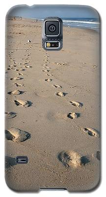 The Trails Of Footprints - Jersey Shore Galaxy S5 Case