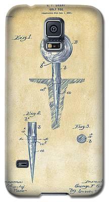 Vintage 1899 Golf Tee Patent Artwork Galaxy S5 Case
