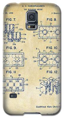 Vintage 1961 Lego Brick Patent Art Galaxy S5 Case