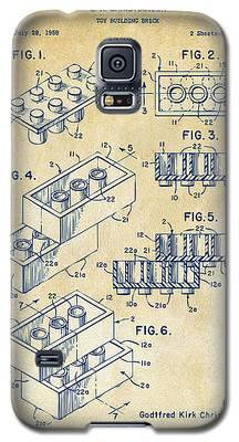 Vintage 1961 Toy Building Brick Patent Art Galaxy S5 Case