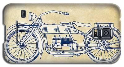 Vintage Harley-davidson Motorcycle 1919 Patent Artwork Galaxy S5 Case