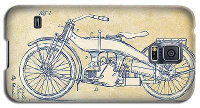 Vintage Harley-davidson Motorcycle 1924 Patent Artwork Galaxy S5 Case