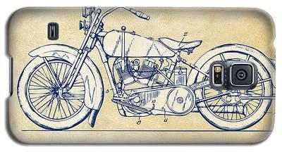 Vintage Harley-davidson Motorcycle 1928 Patent Artwork Galaxy S5 Case