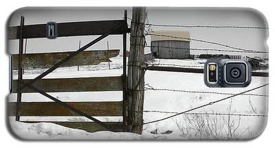 Winter Fence Farm Galaxy S5 Case