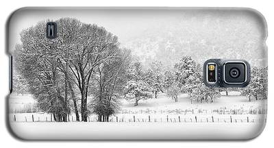 Winter Pasture In Black And White Galaxy S5 Case